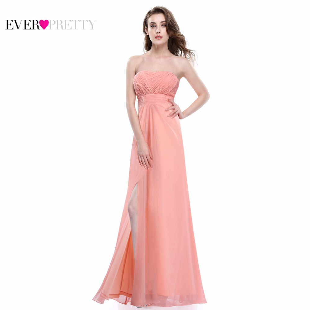 Online buy wholesale prom style bridesmaid dresses from china prom clearance sale peach strapless bridesmaid dresses 2017 xx04880ehb ever pretty pleated style full length ombrellifo Images