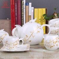 Envío de la gota de Café de Porcelana Conjunto Taza de Té Tazas de Café de Estilo Europeo Establece Compra directa-de china, leche Olla, Pote de Azúcar