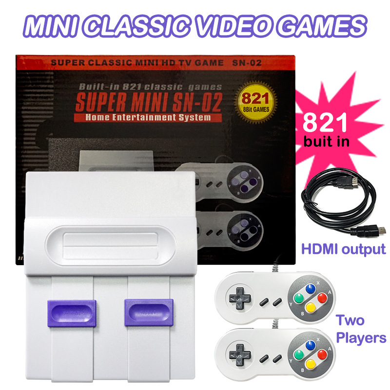 8 Bit Retro Game Mini Classic HDMI TV Video Game Console with 821 Games for Handheld Game Players