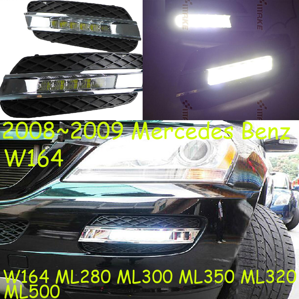 W164 daytime light;2008~2009, Free ship!LED,W164 fog light,2ps/set;W164, ML350 ML280 ML320 ML500 teana fog light 2pcs set led sylphy daytime light free ship livina fog light