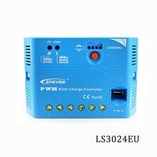 LS3024EU 30A 12 v 24 v Epsolar Controlador de Carga Solar PWM PV 100 w 18 v Reguladores carregador de Painéis Solares 5 v porta USB