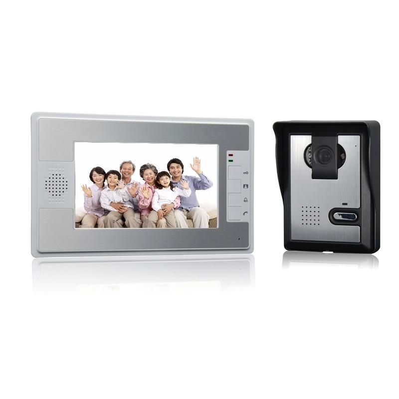 (1 set) 1 to 1 Home using door bell with surveillance camera waterproof door access control Video intercom 7 inch panel