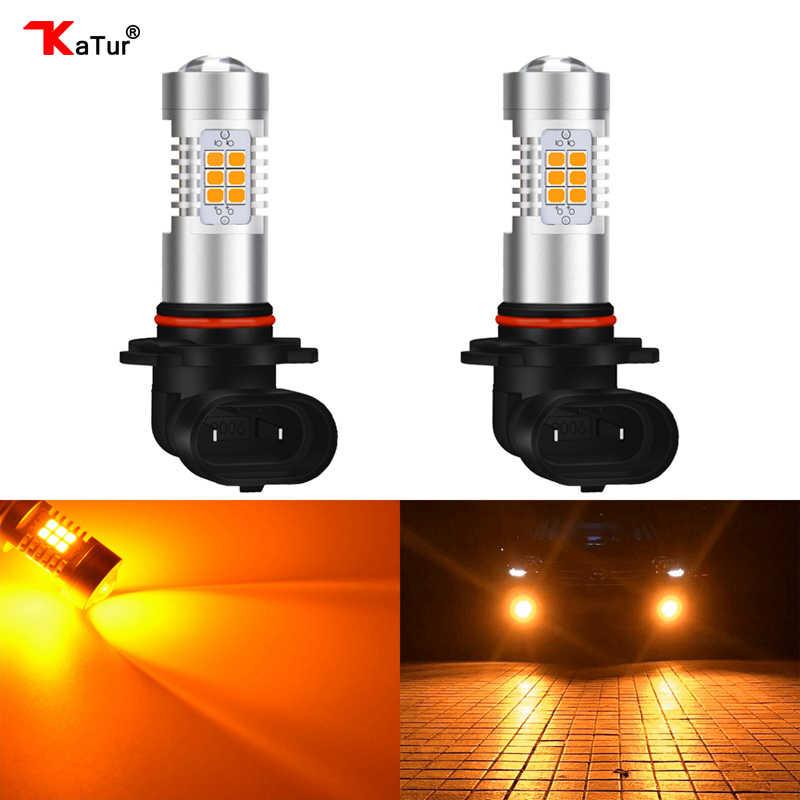Katur 9005/HB3 9006/HB4 Yellow Car Led Fog Light Driving Driving Running LED Led Light Bulb Led Orange 6000K White For