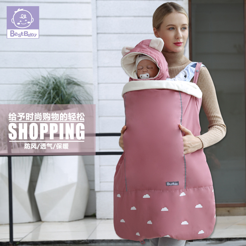 Best Baby Winter Baby Carrier Cloak Warm Cape Stroller Pram Cover Wind Rain Snow Proof With Baby Car Activity & Gear