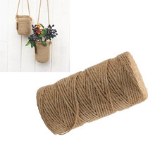 100 Yards Cords Ropes Natural Dry Twine Cord Jute Twine Rope Thread For DIY Decor Toy Crafts Parts 2mm hemp(China)
