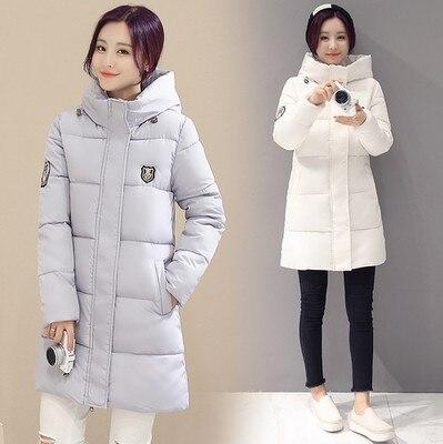Kış Ceket Kadın Giyim 2016 Yeni Moda Aşağı Pamuk Uzun Ceket Laides Kalınlaşma Pamuk Yastıklı Kış Sıcak Palto Kadın