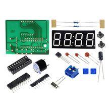 67ce7c14 DIY Kit компактный 4-цифра цифровые часы микроконтроллер время Дисплей DIY  светодио дный электронный комплект