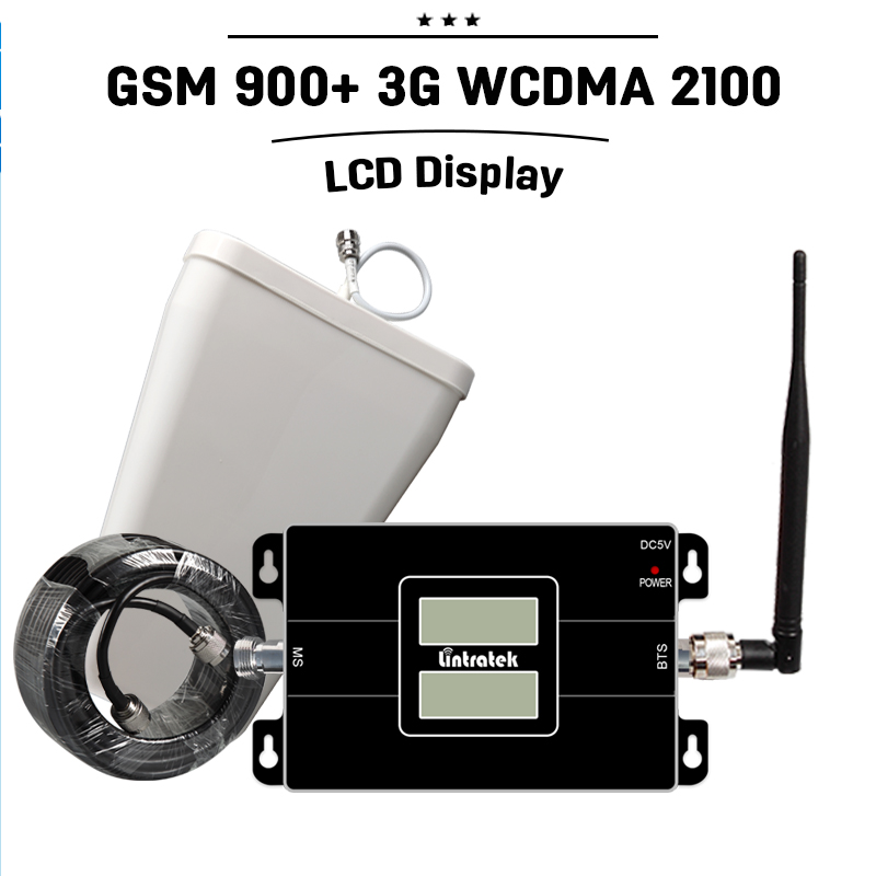 NEW LCD Display GSM 3G Dual Band Signal Repeater GSM 900 3G WCDMA 2100 3G UMTS