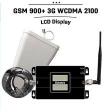NOUVEAU! Écran lcd GSM 3G Dual Band Répéteur de Signal GSM 900 3G WCDMA 2100 3G UMTS Mobile Amplificateur de Téléphone Cellulaire Mobile Booster