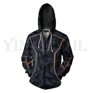 Men and Women Zip Up Hoodies The Avengers Hero Hooded Jacket Mravel Superheroes Sweatshirt Iron Man Streetwear Cosplay Costume