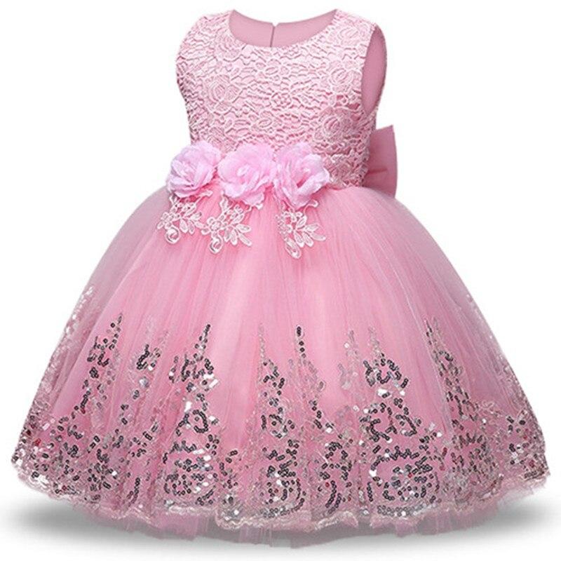 2018 verano niño partido Floral princesa vestido Niñas Ropa boda ...