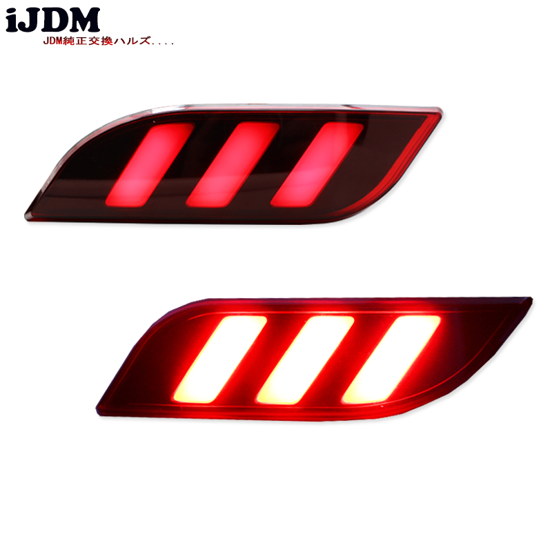Aliexpress Buy Ijdm Brilliant Red Optic Tube Style Led Rear