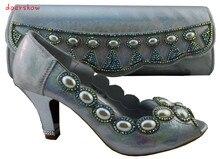 Doershow Frete Grátis Fashion Shoes Africanos e Matching Bags definido para as mulheres, com pedras e Itália Sapatos e Bolsas HJZ1-102
