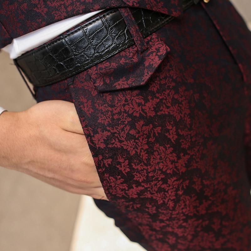 Formelle Hosen für Männer Hochzeit Prom Mens Dress Pants Slim Fit - Herrenbekleidung - Foto 5