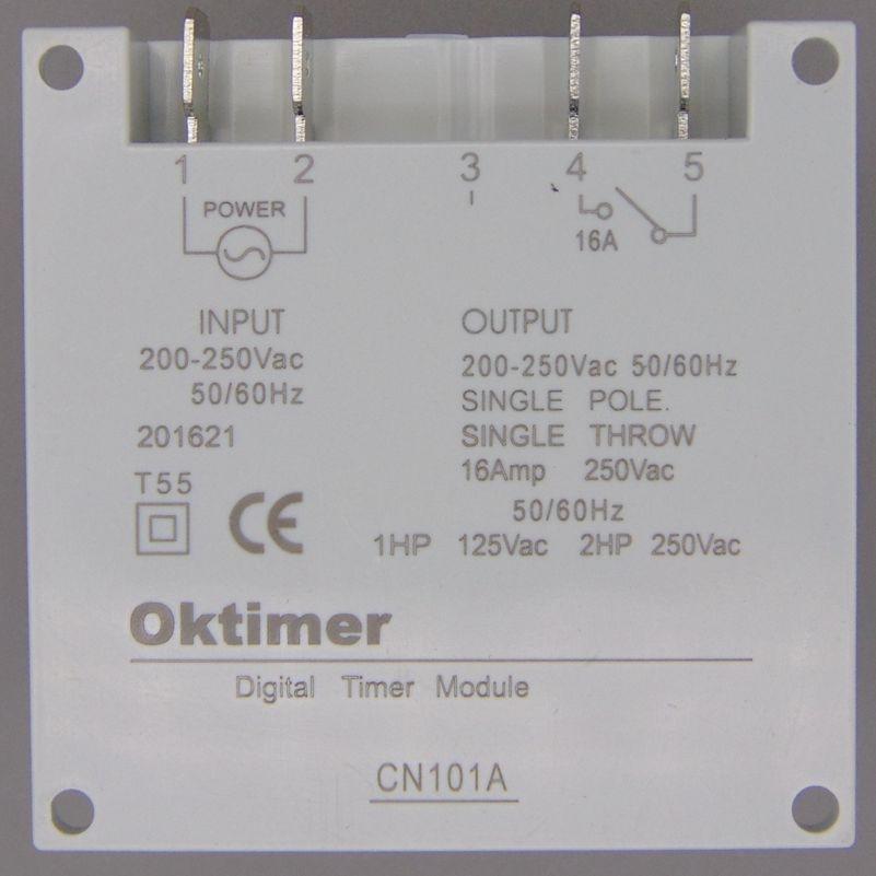OKtimer CN101A AC 220V 230V - 計測器 - 写真 2