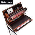 M49 Famous Designer Brand High Quality Men Wallet Double Zipper High Capacity Storage Passport Card Money Clip Long Wallet Purse