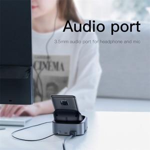Image 5 - Док станция Baseus для Samsung S10 S9, USB C на HDMI, 3,5 мм