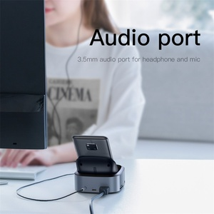 Image 5 - Baseus Type C HUB Docking Station For Samsung S10 S9 Dex Station USB C To HDMI 3.5mm Jack Dock Adapter For Huawei P30 P20 Pro