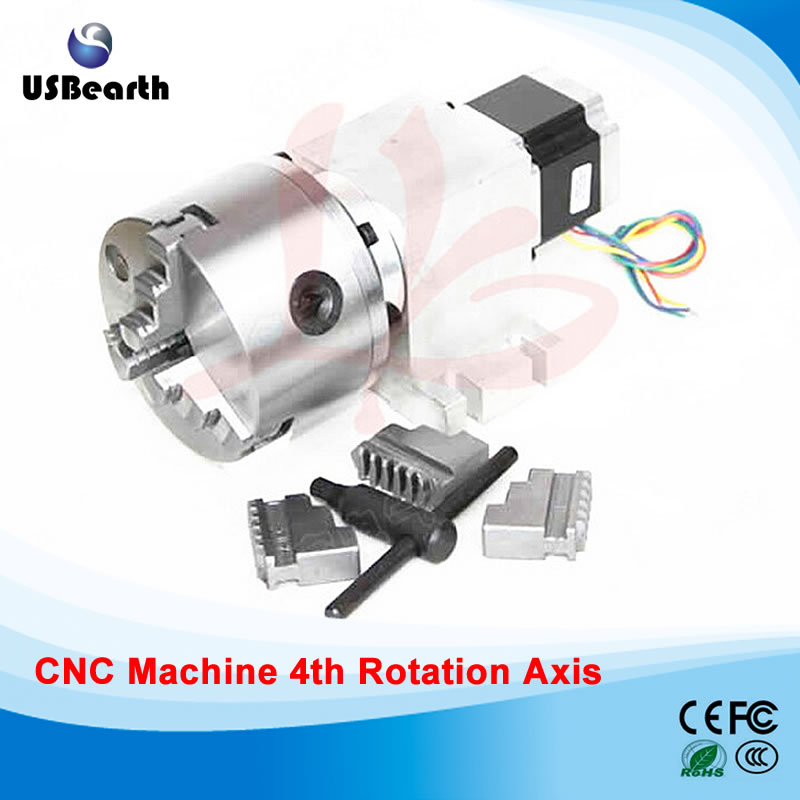Free tax to Russia Rotary axis 14-100-100A 80mm 3 jaw chuck for mini cnc router russia no tax rotary axis 5m 6 80b 80mm 4 jaw chuck for mini cnc router
