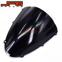 Black Windscreen Windshield For Kawasaki ZX6R ZX 6R ZX 6R ZX636 2005 2008 2005 2006 2007