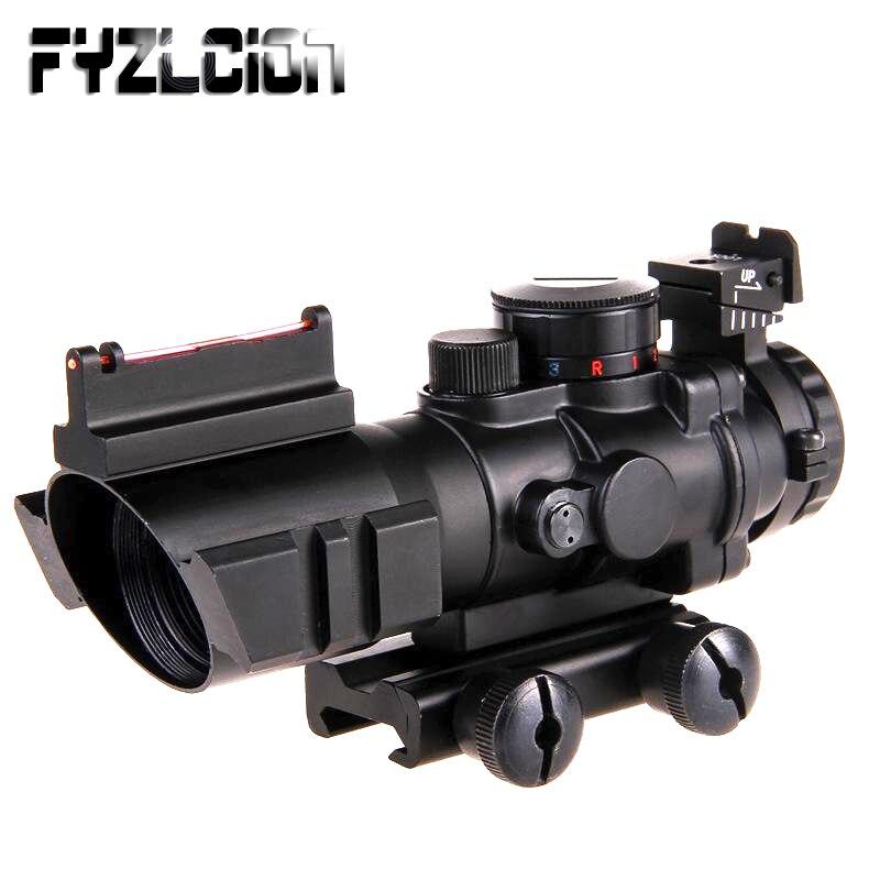 Fyzlcion 4x32 Acog lunette de visée 20mm queue d'aronde Reflex optique portée visée tactique pour fusil à air comprimé fusil de Sniper loupe Air Soft