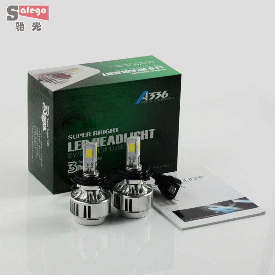 H4 72W LED  Car Headlight Lamp dual beam  h4 high low hi/lo Fog Lamp 6600 LM 6000K HeadLamps 6000K FOR Car light