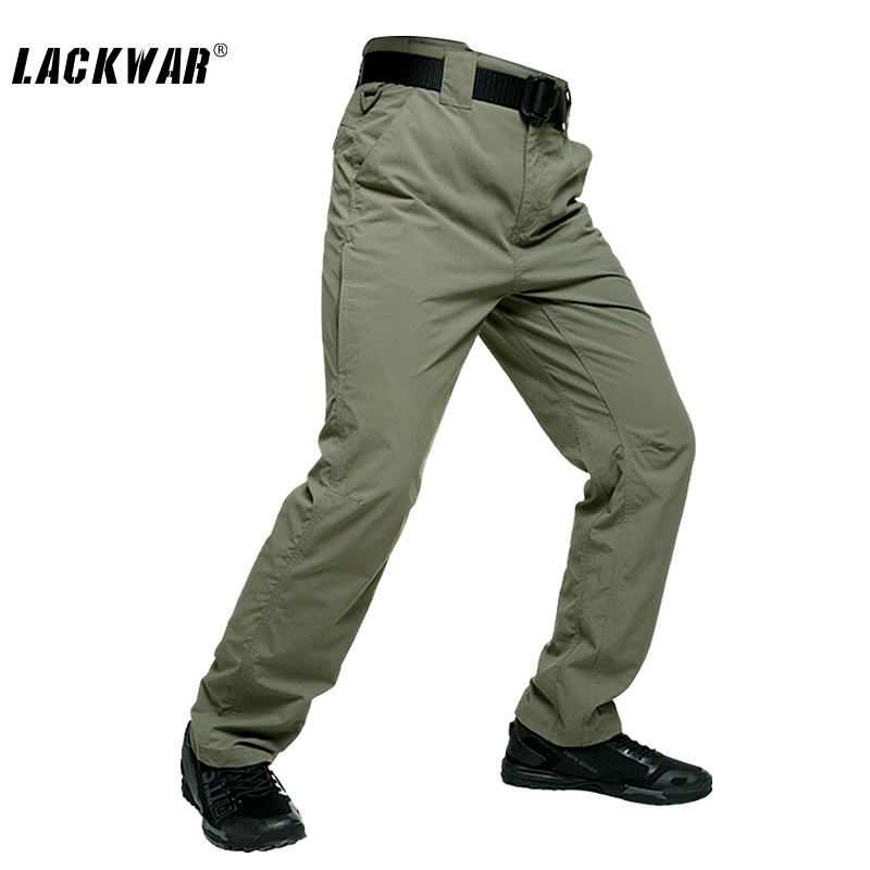 ФОТО LACKWAR Brand Men Military Overalls Multi Pockets Hiking Tactical Pants Waterproof Outdoor Quick-dryTactical Trousers LKZ0033