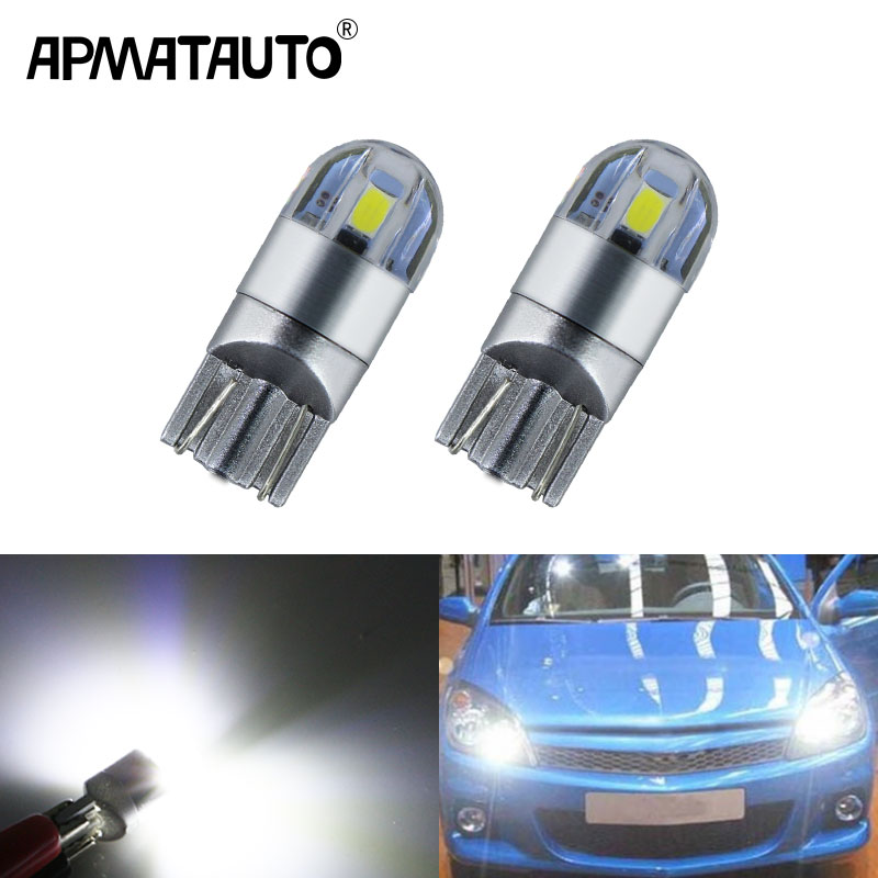 CANBUS No Error HID White Eyelid Parking City Lights W5W 2825 T10 168 LED Bulbs