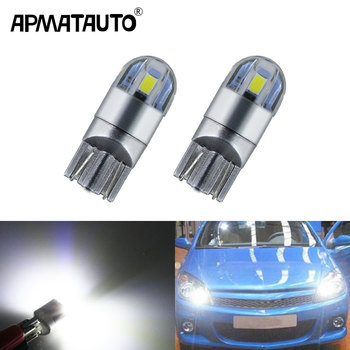 2x T10 W5W for Samsung Chip white LED Eyebrow Eyelid Light Bulb For Opel Astra h j g Corsa Zafira Insignia Vectra b c d