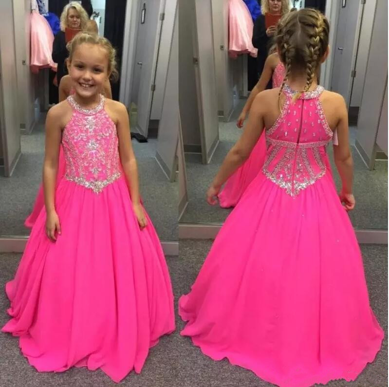 New Beaded Girls Pageant Dresses Sequins Crystals Sleevless Girls Formal Wear Flower Girls Dresses Birthday Dress Ball GownNew Beaded Girls Pageant Dresses Sequins Crystals Sleevless Girls Formal Wear Flower Girls Dresses Birthday Dress Ball Gown