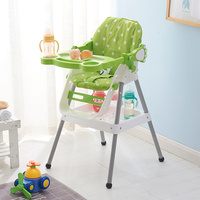 Baby Happy Feeding Chairs Safety Portable Table Chairs High Chair For Children Baby Plastic Adjustable Dining Chair