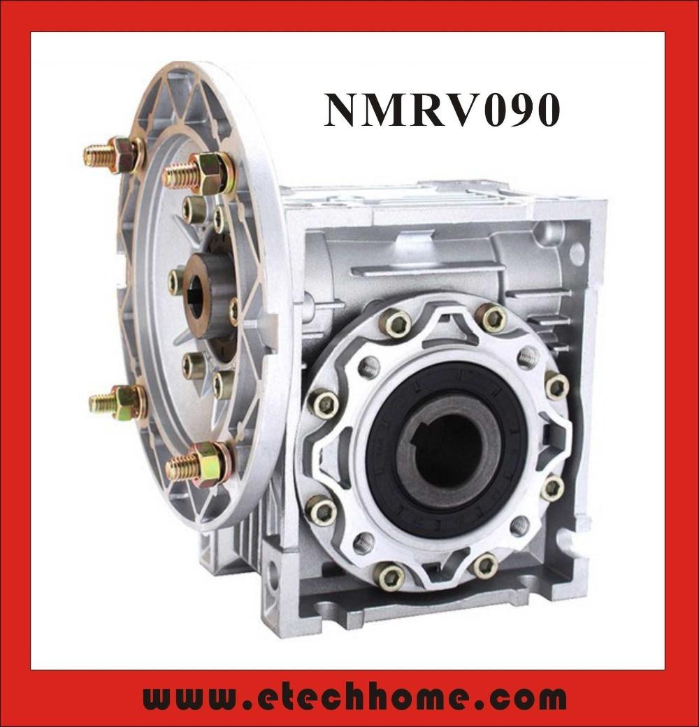 20:1- 60 :1 Speed Reducer NMRV090 Worm Reducer 19mm 24mm 28mm input hole 90 degree Gearbox nmrv090 worm reducer 7 5 1 10 1 15 1 gear ratio worm gearbox 19mm 24mm 28mm input shaft 90 degree speed reducer rv090
