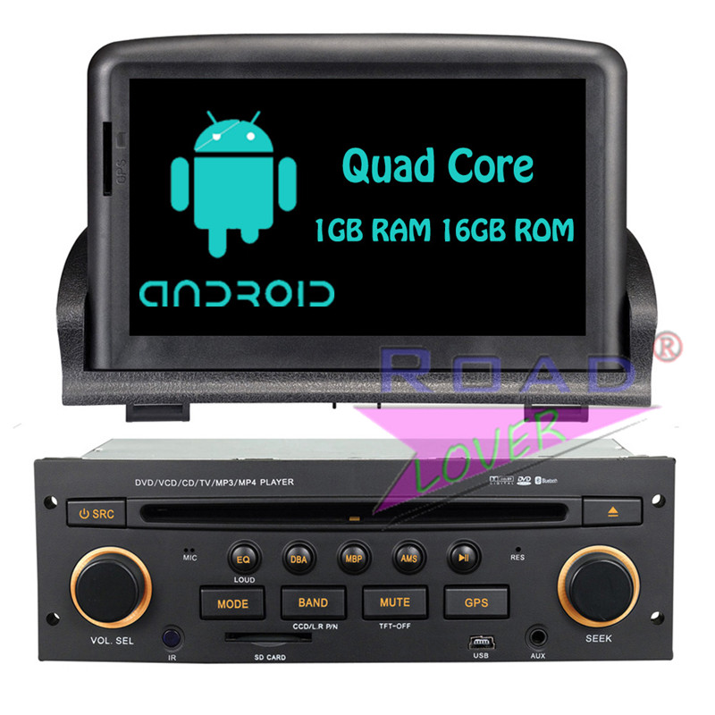 Roadloevr Android 6.0 Quad Core Car DVD Player Head Unit For Peugeot 307 Stereo GPS Navigation Automagnitol 2Din Radio Monitor