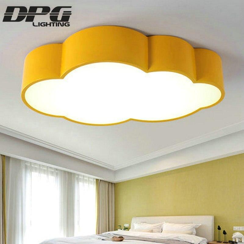 € 70.25 50% de DESCUENTO|LED nube niños habitación iluminación niños  lámpara de techo bebé luz de techo con amarillo Azul Rojo blanco para niños  niñas ...