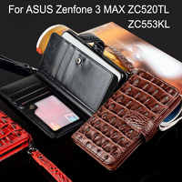 case for ASUS Zenfone 3 MAX ZC520TL ZC553KL 5.2 5.5 Luxury Crocodile Snake Leather Flip cover Business Wallet bag phone Cases