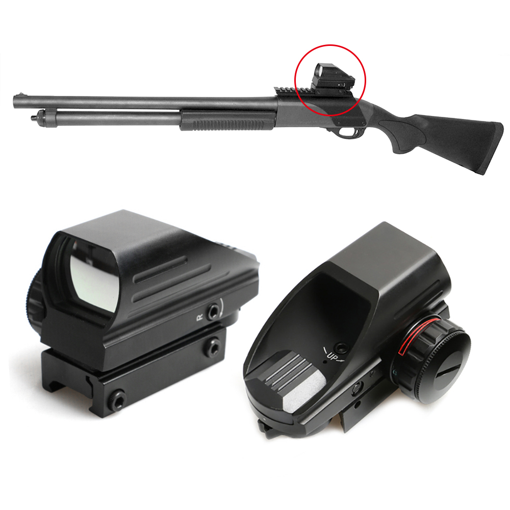 где купить Tactical AK Holographic Sight 1x22x33 Reflex Red Dot Sight Green Red Dot Reflex Scope 20mm Rail Hunting Red Green Dot Laser дешево