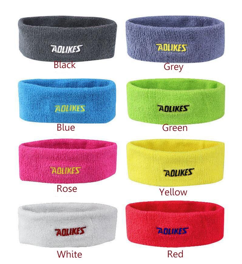 1 pc Tennis sweatband towel 100% cotton headband head guard tennis badminton basketball sweatband head sweat band tennis bands