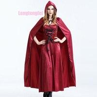 Бесплатная доставка Хэллоуин костюмы длинная куртка с секциями из Европа и Соединенные Штаты роль взрослых Платье для косплея сценические