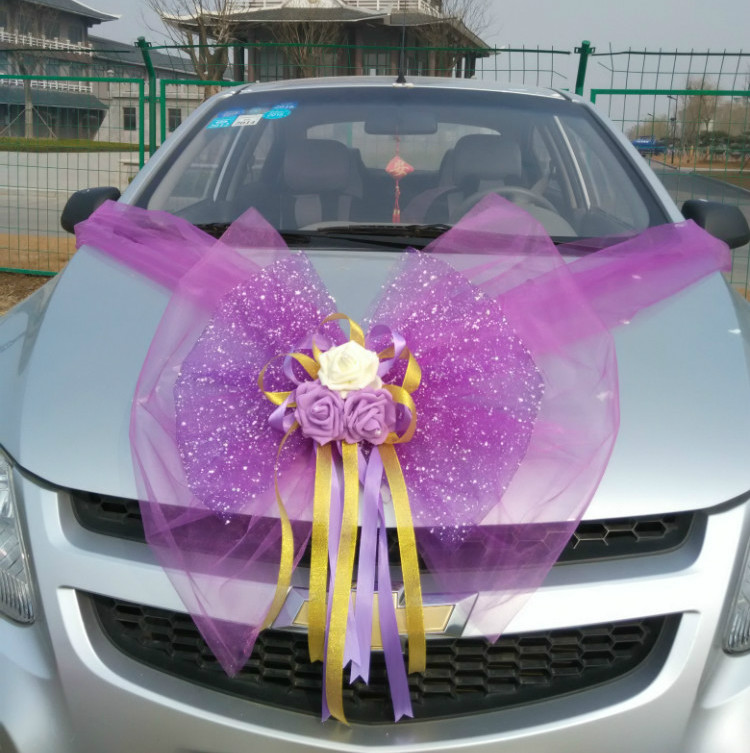 Wedding Car Decoration Flower Main Car Decoration Car ...
