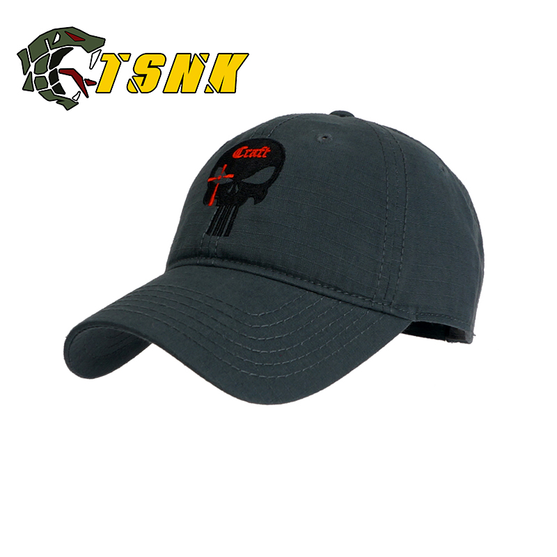 TSNK Men Women Baseball Cap Running Cap Hat Tactical Hat Amercian Punisher  SEAL Team Cotton Hat Adjusted Snapback-in Baseball Caps from Apparel  Accessories ... 44af90a79d15