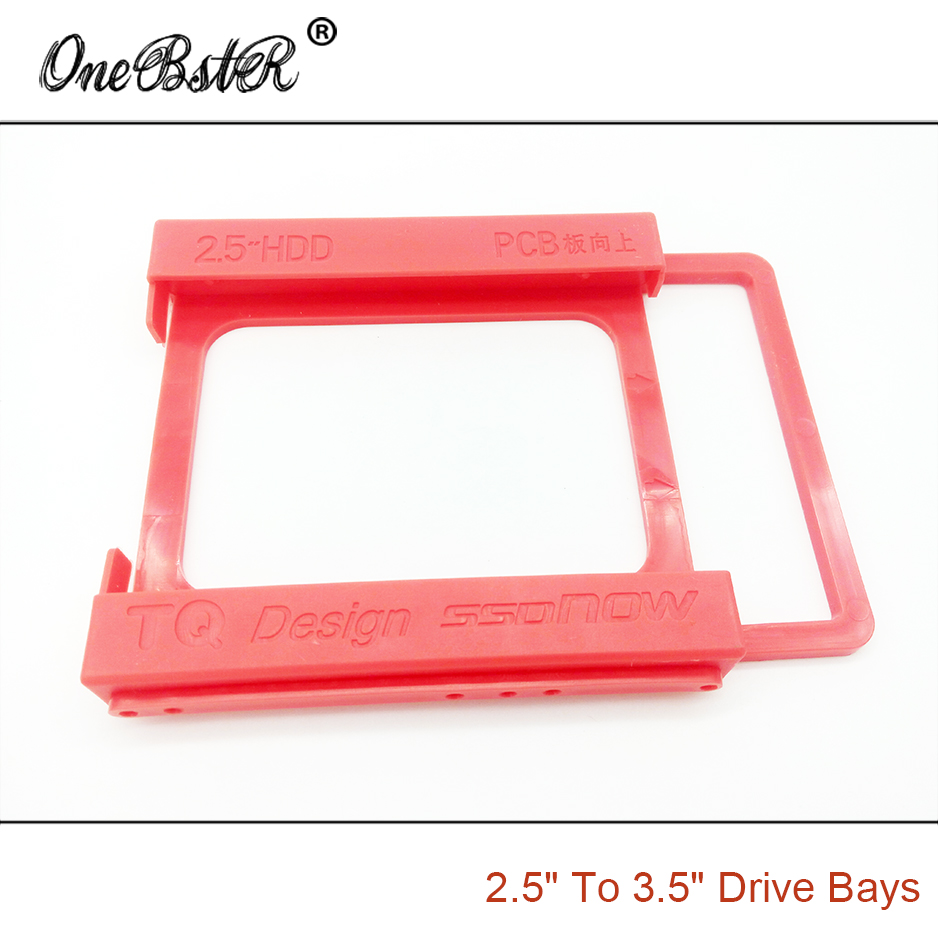 "Image 4 - 2.5"" SSD Hard Drive To 3.5"" Bay HDD Mounting Plastic Bracket Dock Tray Adapter Screw free Installation Easy free shipping-in 3D Printer Parts & Accessories from Computer & Office"