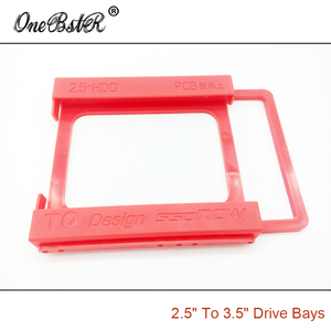 """Image 4 - 2.5"""" SSD Hard Drive To 3.5"""" Bay HDD Mounting Plastic Bracket Dock Tray Adapter Screw free Installation Easy Free Shipping"""