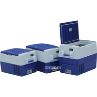 Mini Auto Fridge Truck Home Freezer Travel Car Refrigerator Cooling to 18 Degree Beverage Portable DC 12V/24V 30L Mute Design