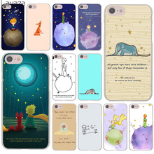 цена на Lovely the Little Prince fox On Mint Hard Transparent Case Cover for iPhone 7 7 Plus 6 6S Plus 5 5S SE 5C 4 4S
