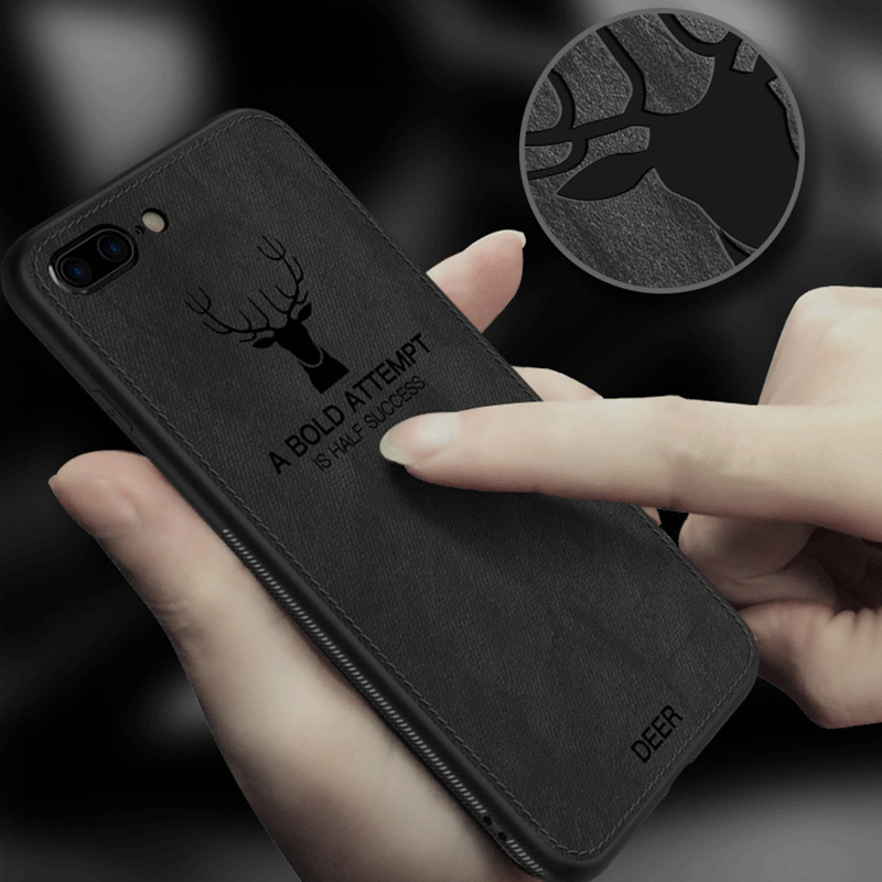 Fashion Phone Case For Iphone X XS Max 7 Plus Case Soft Canvas Deer Phone Cases For Iphone 6 6s 8 Plus XR Case Coque Funda Capa