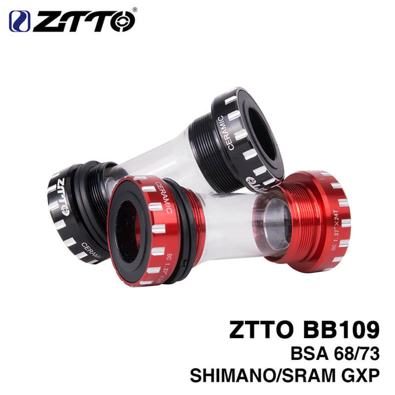ZTTO BB109 BB68 BSA68 Bottom Bracket MTB Bike General Bearing Bottom Brackets for Shimano 24mm SRAM 22mm GXP Crankset