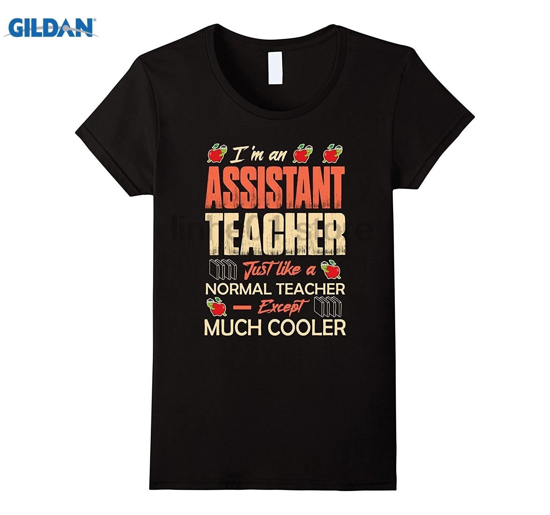 GILDAN Im An Assistant Teacher T-Shirt teaching assistant gifts dress T-shirt glasses Womens T-shirt