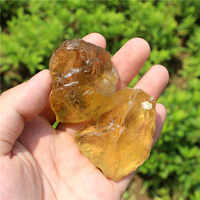 1/4lb Natural citrine crystal quartz stone nunatak sculpture decoration lucky ore energy chakra stones wholesale