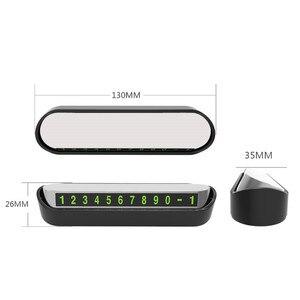 Image 5 - รถหมายเลขโทรศัพท์ที่จอดรถชั่วคราวการ์ดใบอนุญาตอัตโนมัติรถสติกเกอร์เปลี่ยนซ่อนโทรศัพท์มือถือบัตร