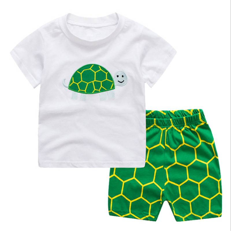 Baby Boy Clothes Jumping kids suits Children Summer Toddler Boys Clothing sets embroidery turtle animals clothing fashion kids clothes baby boy clothes sets gentleman suit toddler boys clothing long sleeve children clothing